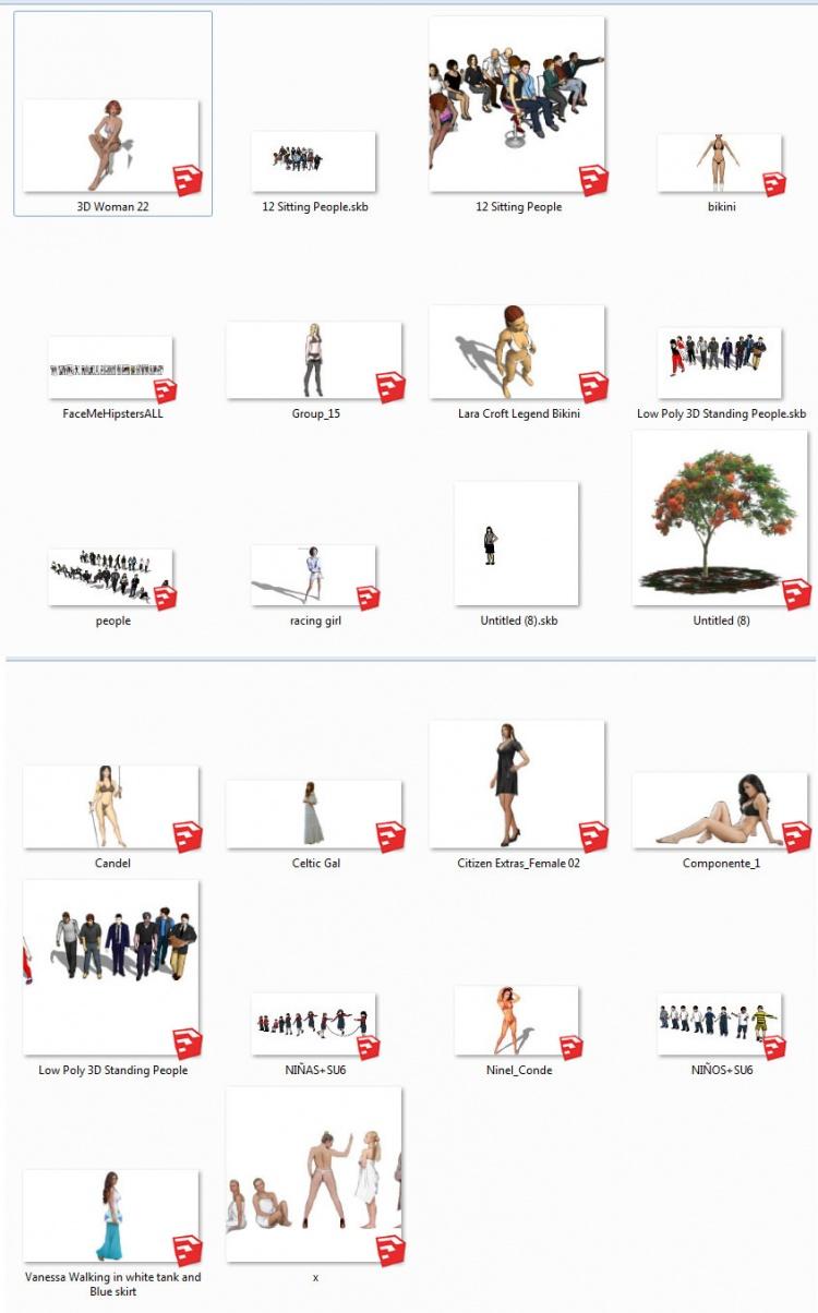 Thư viện sketchup về Người 3D full 031