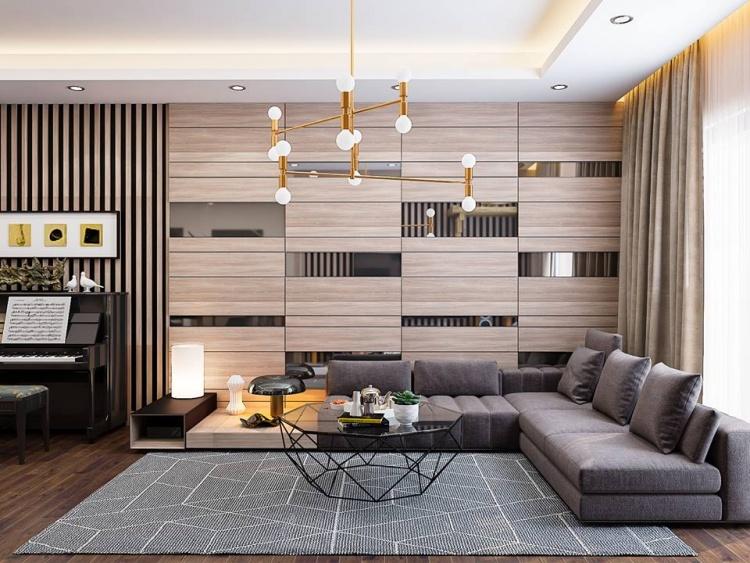 Phối cảnh nội thất 3D Max Nội thất chung cư gồm Phòng khách, Bếp ăn 00090