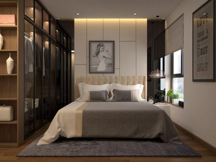 Phối cảnh phòng ngủ phong cách Hiện đại đẹp full file Max 00082