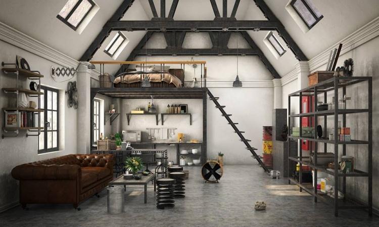 Phối cảnh nội thất 3D Max Nội thất đơn giản và phong cách 00093