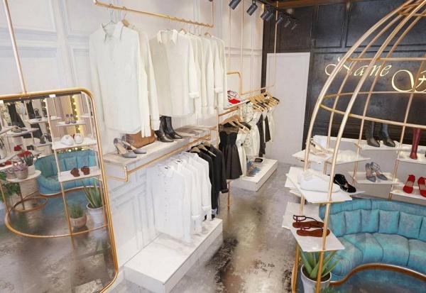 Phối cảnh 3dsmax shop quần áo 011 đẹp và hiện đại