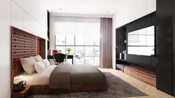 Phối cảnh phòng ngủ phong cách Hiện đại đẹp full file Max 00083