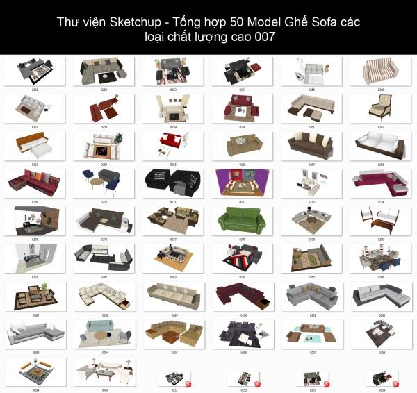 Thư viện Sketchup - Tổng hợp 50 Model Ghế Sofa các loại chất lượng cao 007