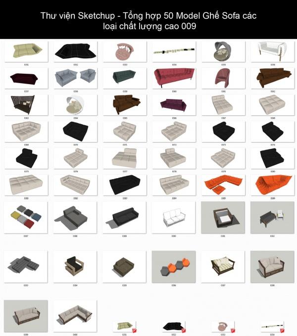 Thư viện Sketchup - Tổng hợp 50 Model Ghế Sofa các loại chất lượng cao 009
