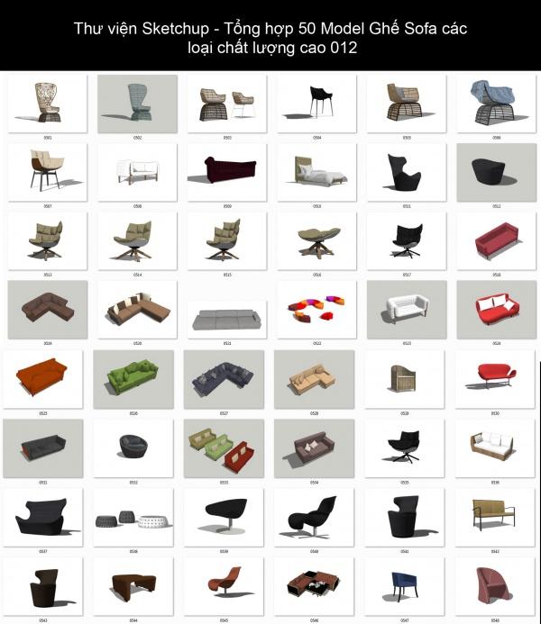 Thư viện Sketchup - Tổng hợp 50 Model Ghế Sofa các loại chất lượng cao 012