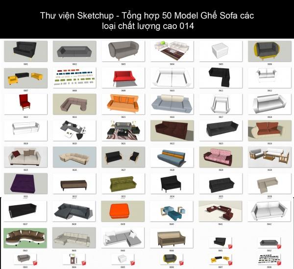 Thư viện Sketchup - Tổng hợp 50 Model Ghế Sofa các loại chất lượng cao 014
