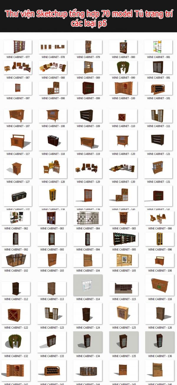 Thư viện 3d sketchup Tổng hợp 70 Model về tủ trang trí các loại P5