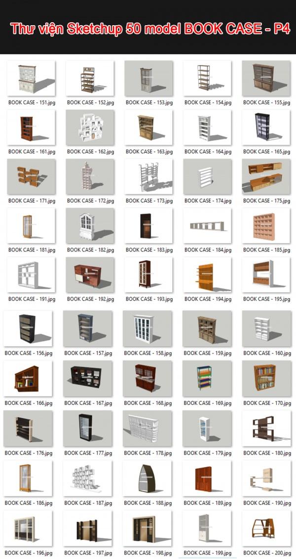 Thư viện 3d sketchup Tổng hợp 50 Model BOOK CASE - P4
