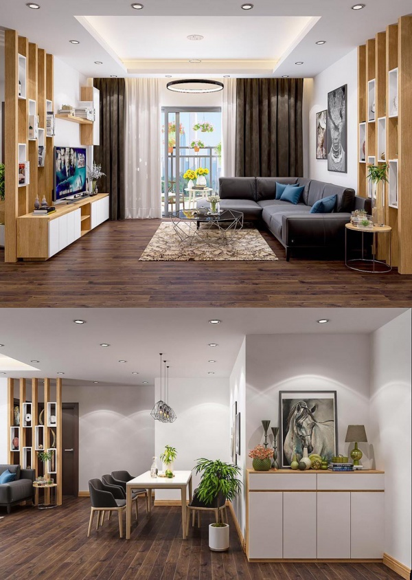 Phối cảnh nội thất 3D Max Nội thất Chung cư phong cách hiện đại 00095