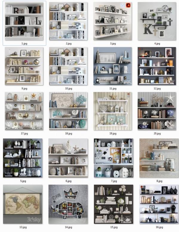 Thư viện 3dsmax tổng hợp 20 model decor set đẹp P1