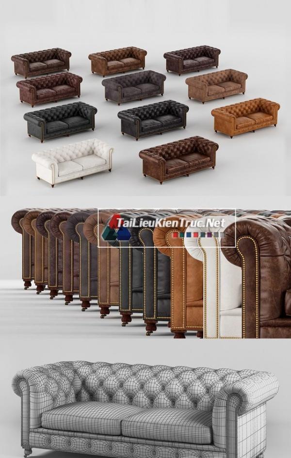 Thư viện 3dsmax File 3D model Sofa da các màu lựa chọn chất lượng P11