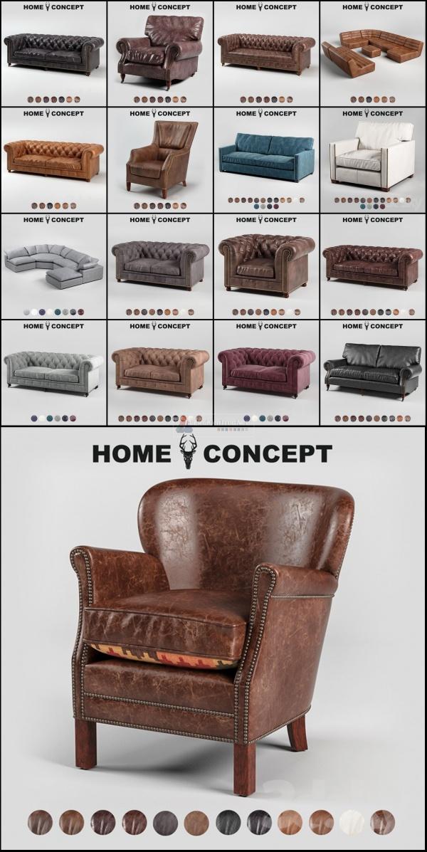 Thư viện Tổng hợp 17 File 3D model Sofa của homeconcept cực đẹp P13 full download