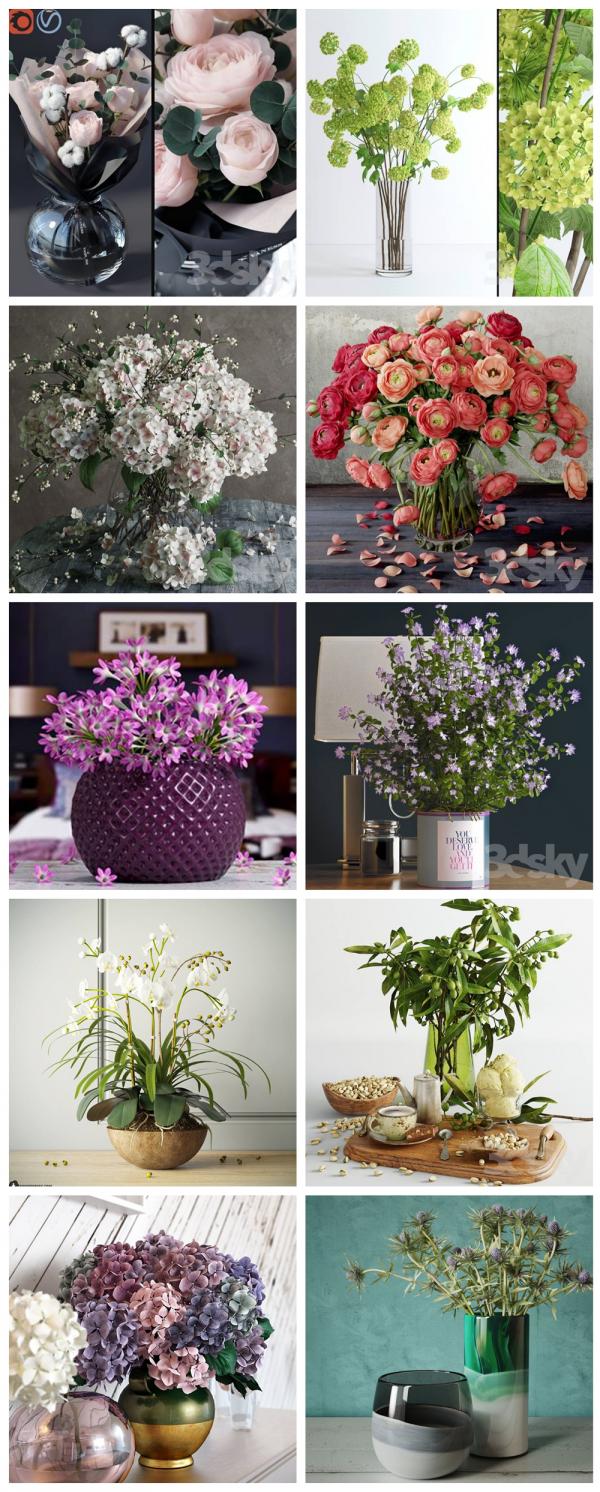 Thư viện 3d tổng hợp 10 Model về các chậu cây, lọ hoa trang trí chất lượng và đẹp P27