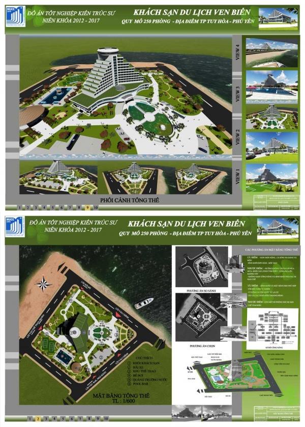 Đồ án tốt nghiệp kiến trúc sư - Khách sạn du lịch ven biển Tuy Hòa - Phú Yên