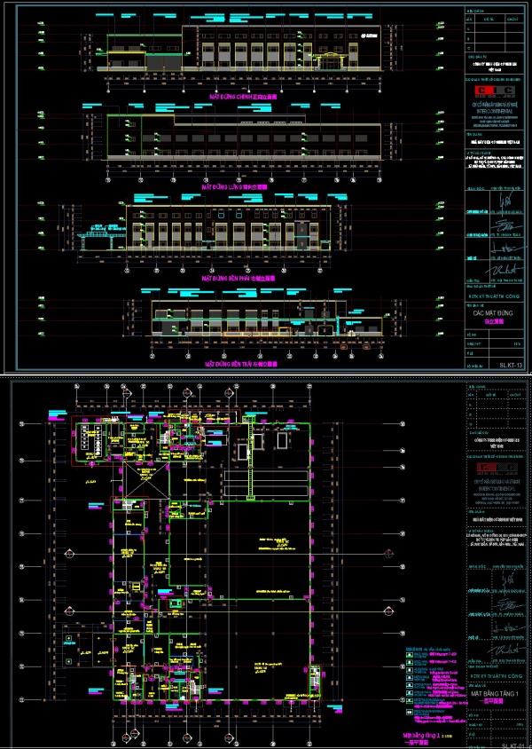 Hồ sơ thiết kế kĩ thuật thi công nhà máy điện cơ SHIHLIN Việt Nam diện tích 109x156m