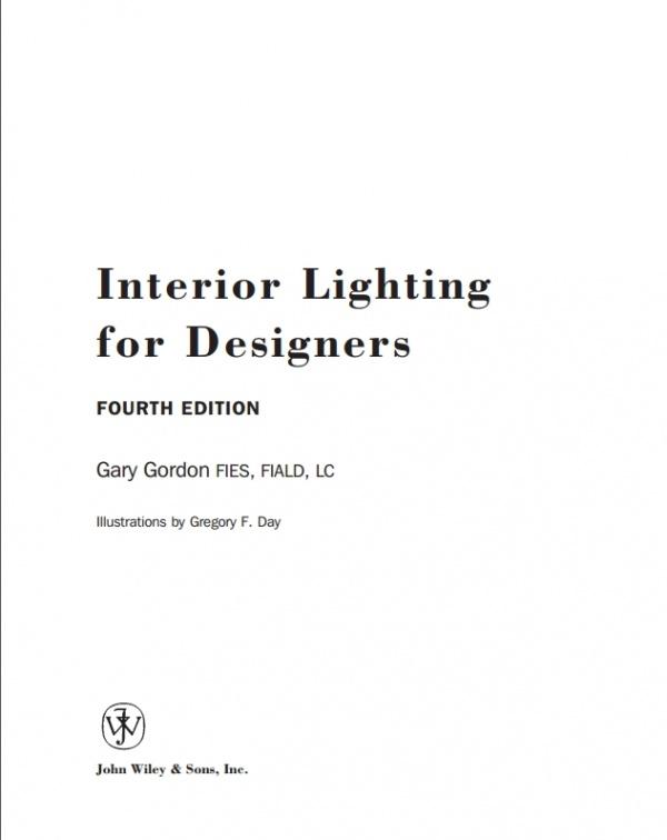 Sách thiết kế ánh sáng trong nội thất Interior Lighting for Designers