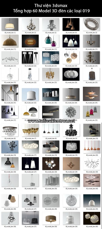 Thư viện 3dsmax Tổng hợp 60 Model 3D đèn các loại 019