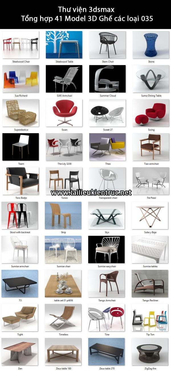 Thư viện 3dsmax Tổng hợp 41 Model 3D Ghế các loại 035