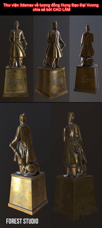 Thư viện 3dsmax về tượng đồng Hưng Đạo Đại Vương chia sẻ bởi CAO LÂM