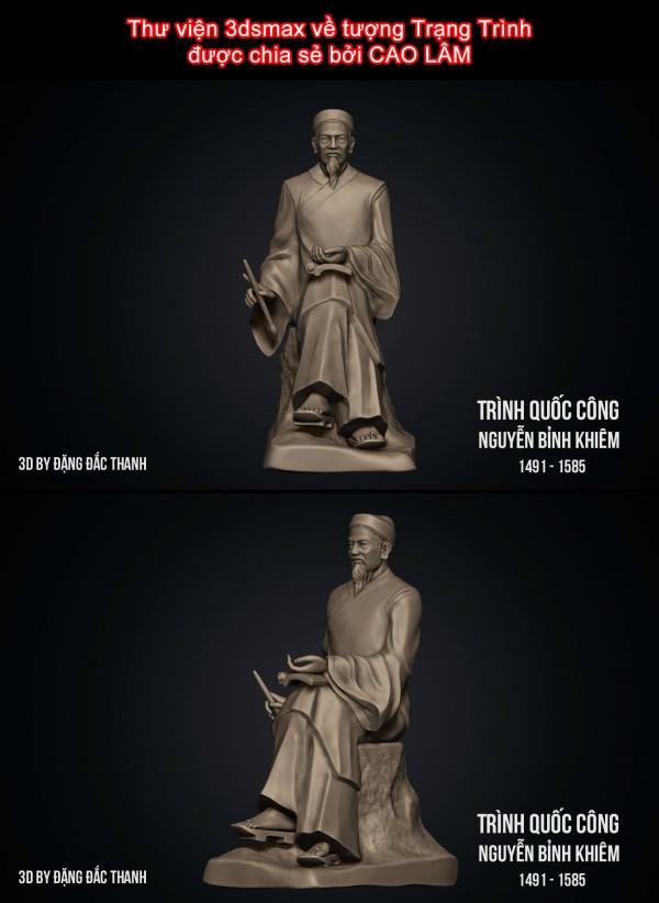 Thư viện 3dsmax về tượng Trạng Trình được chia sẻ bởi CAO LÂM