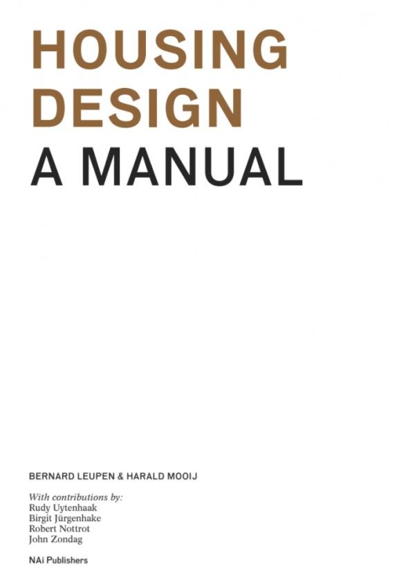 Sách kiến trúc Housing design manual