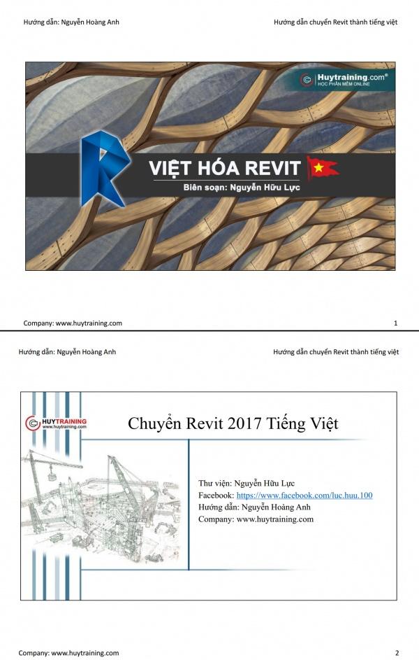 Hướng dẫn cách chuyển Revit sang tiếng Việt