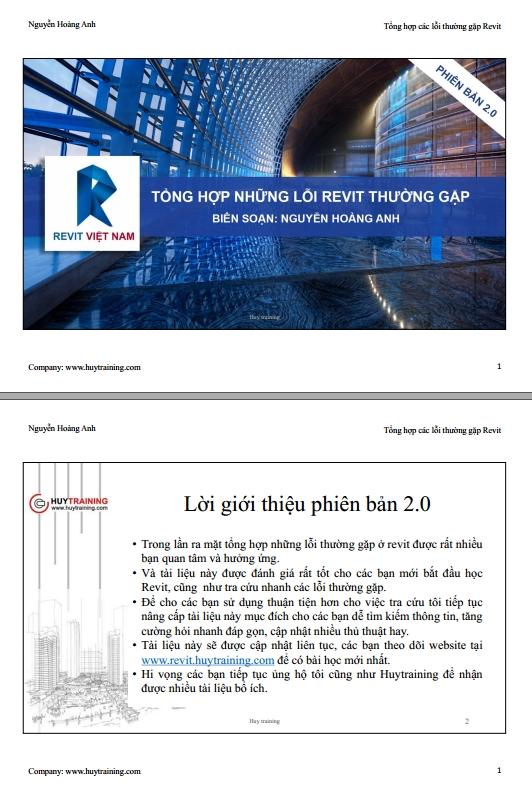 Tổng hợp Các lỗi thường gặp trong Revit - Nguyễn Hoàng Anh
