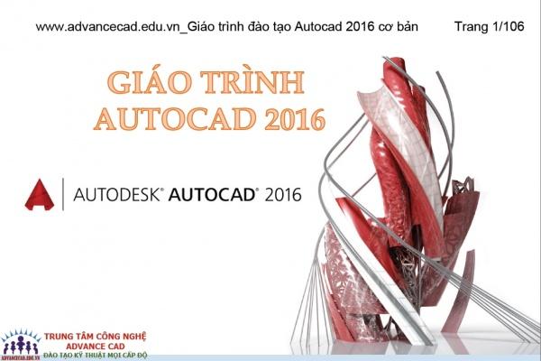 Giáo trình đào tạo Autocad 2016 cơ bản free download