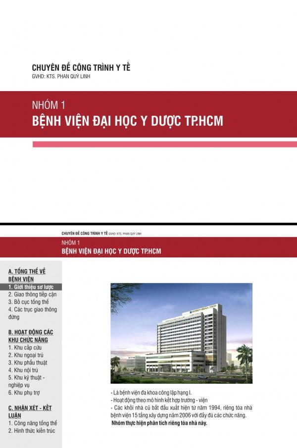 Thuyết trình nhóm - Chuyên đề y tế: Bệnh viện Đại học Y dược TP.HCM