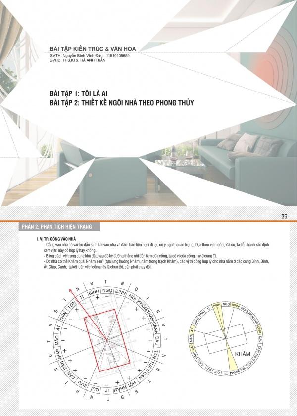Chuyên đề Kiến trúc và Văn hóa: Tôi là ai - Thiết kế ngôi nhà theo phong thủy