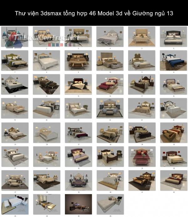 Thư viện 3dsmax tổng hợp 46 Model 3d về Giường ngủ 13
