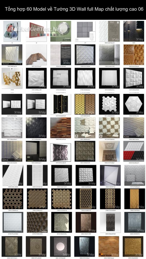 Tổng hợp 60 Model về Tường 3D Wall full Map chất lượng cao 06