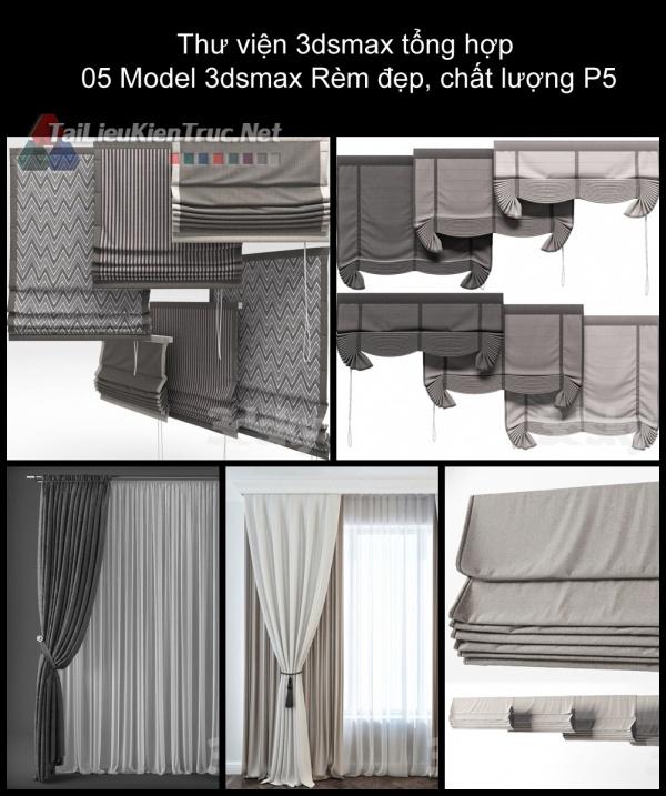 Thư viện 3dsmax tổng hợp 05 Model 3dsmax Rèm đẹp, chất lượng P5