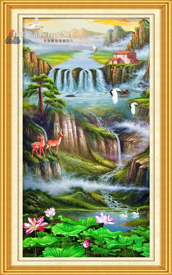 Thư viện photoshop file thiết kế psd Tranh Phong Thủy đẹp