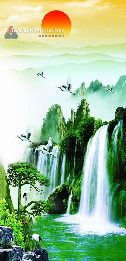 Thư viện photoshop Tổng hợp các file thiết kế psd Tranh Phong Thủy đẹp