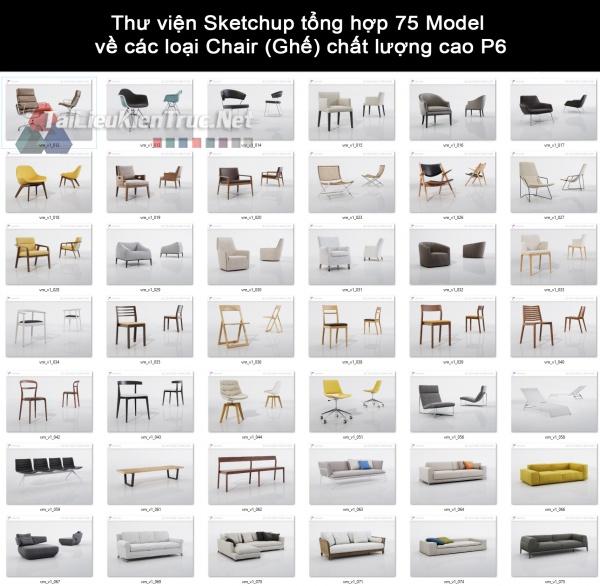 Thư viện Sketchup tổng hợp 75 Model về các loại Chair (Ghế) chất lượng cao P6