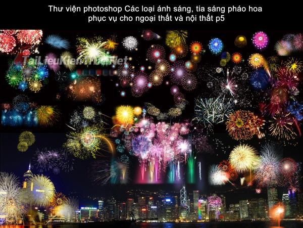 Thư viện photoshop Các loại ánh sáng, tia sáng pháo hoa  phục vụ cho ngoại thất và nội thất p5