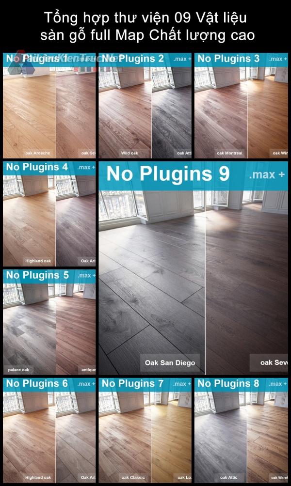 Tổng hợp thư viện 09 Vật liệu sàn gỗ full Map chất lượng cao