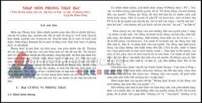 Sách nhập môn phong thủy học tác giả Nguyễn Đình Cống