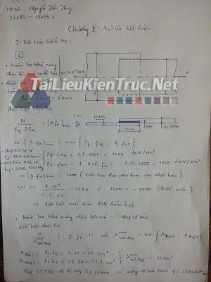 Bài tập lời giải kết cấu thép 1