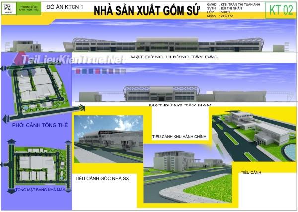 Đồ án công nghiệp nhà máy sản xuất gốm sứ-Bùi Thị Nhân MS44