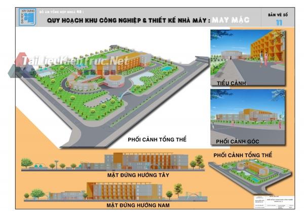 Đồ án tổng hợp quy hoạch khu công nghiệp và thiết kế nhà máy may mặc