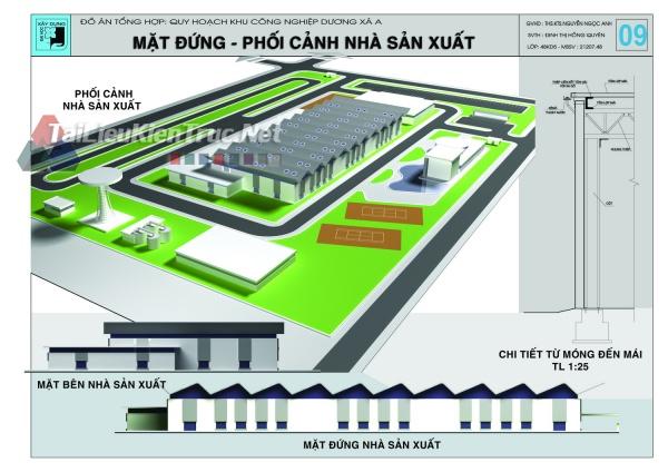Đồ án tổng hợp quy hoạch khu công nghiệp Dương Xá A và thiết kế nhà máy lắp ráp ô tô