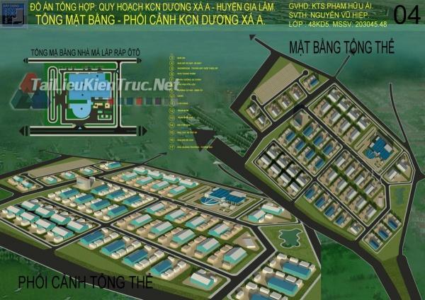 Đồ án tổng hợp quy hoạch khu công nghiệp Dương Xá A và thiết kế nhà máy lắp ráp ô tô 5