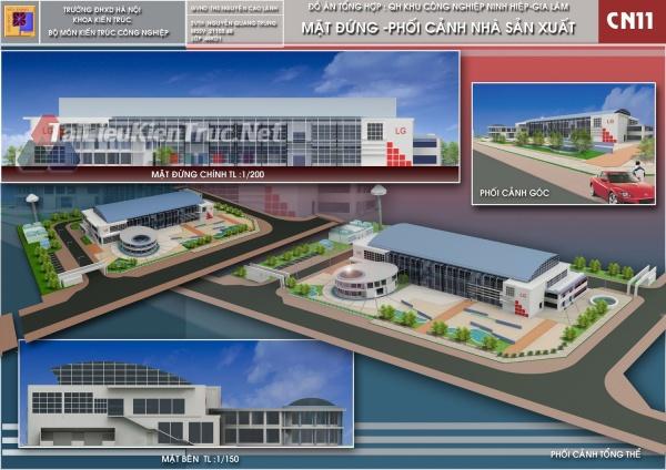 Đồ án tổng hợp quy hoạch khu công nghiệp Ninh Hiệp-Thiết kế nhà máy lắp ráp điện tử 123