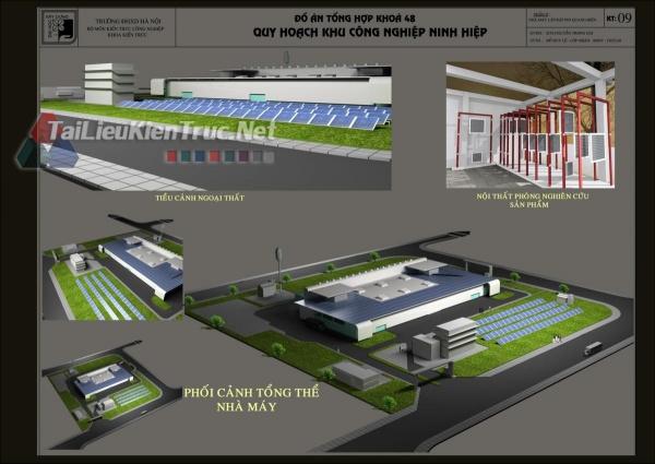 Đồ án tổng hợp quy hoạch khu công nghiệp Ninh Hiệp- Nhà máy lắp ráp pin quang điện
