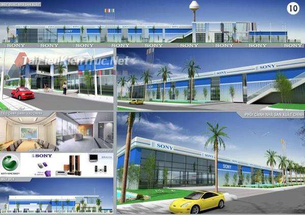 Đồ án tổng hợp quy hoạch khu công nghiệp Ninh Hiệp- Thiết kế nhà máy lắp ráp điện tử sony