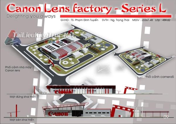 Đồ án tổng hợp quy hoạch khu công nghiệp Ninh Hiệp- Thiết kế nhà máy sản xuất ống kính Canon