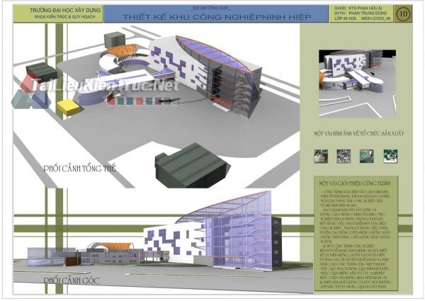 Đồ án tổng hợp quy hoạch khu công nghiệp Ninh Hiệp- Xí nghiệp lắp ráp điện tử