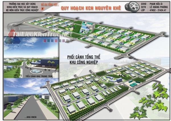 Đồ án tổng hợp quy hoạch khu công nghiệp Nguyên Khuê 1